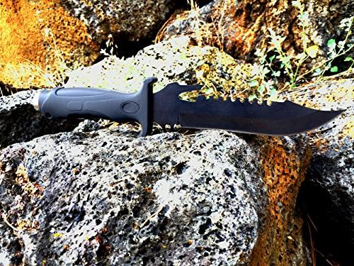 DAX Industries: Survival Fixed Very Sharp, Steel Blade, Low Rate, Sheath Included, Gear