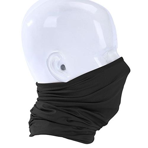 JIUSY Pack Neck Face Mask Windproof Anti-UV Protection Outdoor of