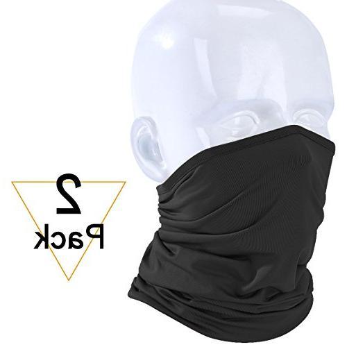 JIUSY 2 Pack Lightweight Neck Gaiter Neck Warmer Face Mask W
