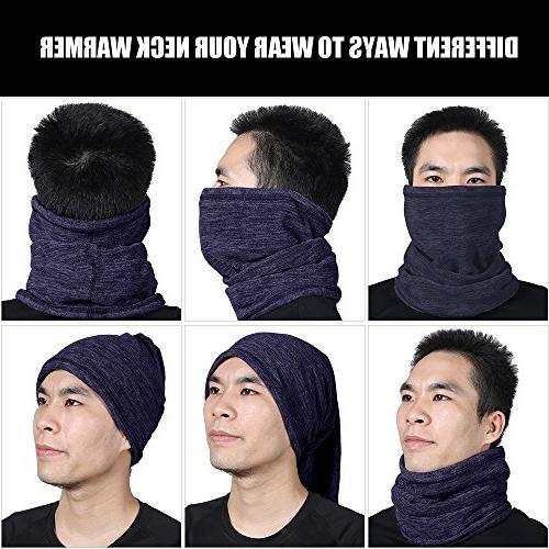 JIUSY Fleece Neck Gaiter Face Mask Gear Outdoor Sports Snowboard Hunting Fishing Grey and