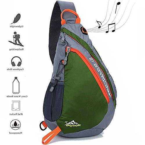 Peicees Travel Sling Backpacks Crossbody Sling Chest Backpac