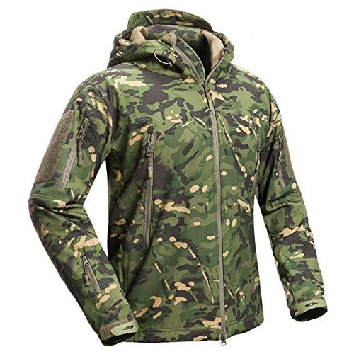 ReFire Gear Men's Camouflage Military Tactical Coat Army Sof