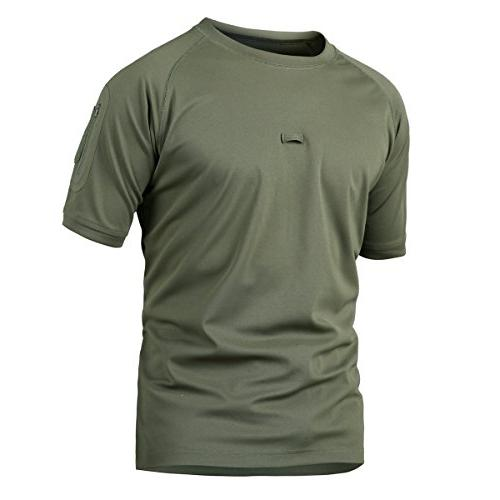 ReFire Gear Men's Military Tactical T Shirt Army Performance
