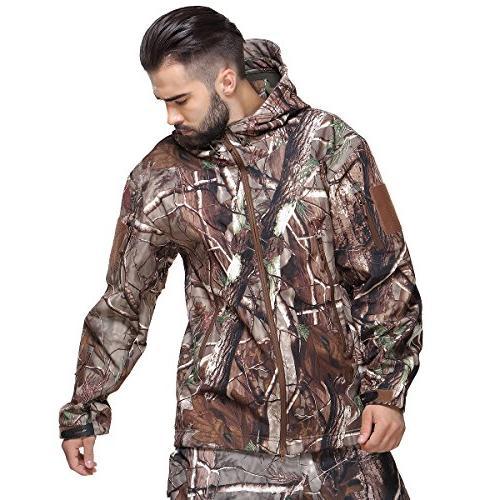 ReFire Gear Men's Shell Tactical Outdoor Fleece Hooded Coat Tree XXX-Large