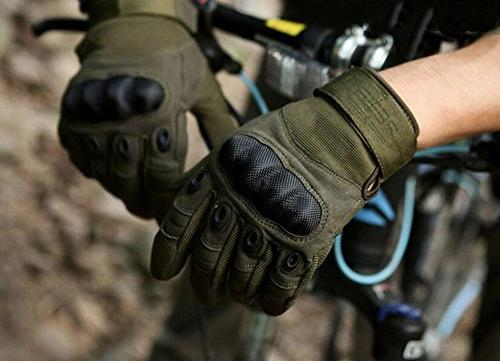 Reebow Military Knuckle Full Finger Gear Outdoor Airsoft MotorcycleArmy Green