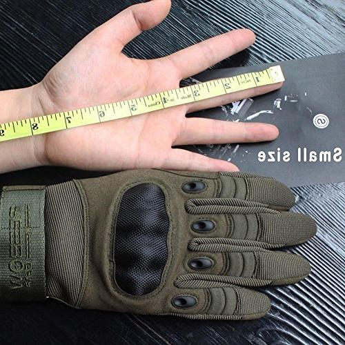 Reebow Knuckle Tactical Gloves Full Finger for Gear Outdoor Sport Shooting Airsoft Paintball Hunting MotorcycleArmy Green
