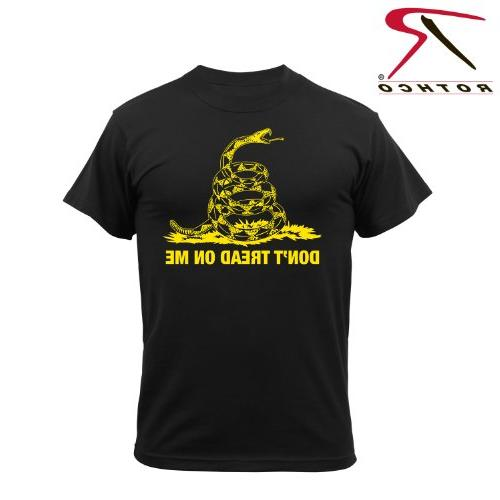 Rothco Don't Tread On Me T-Shirt, Black, Small