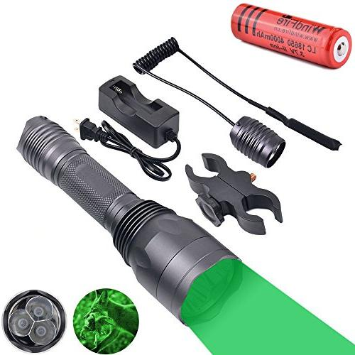 WindFire S10 300 Yards 650 Lumen 3pcs Green LED Hunting Tact