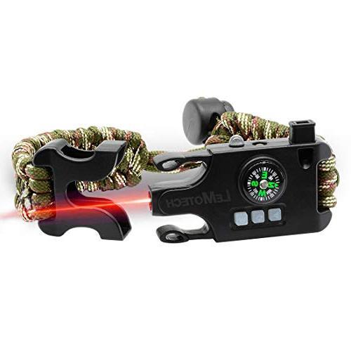 adjustable survival paracord bracelet