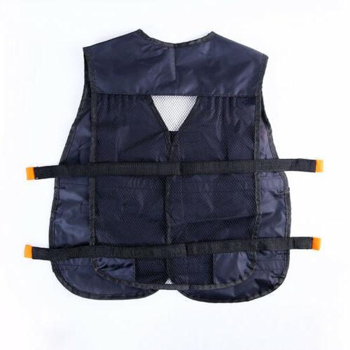 Adjustable Tactical Vest Hunting Gear storage Pocket for NERF