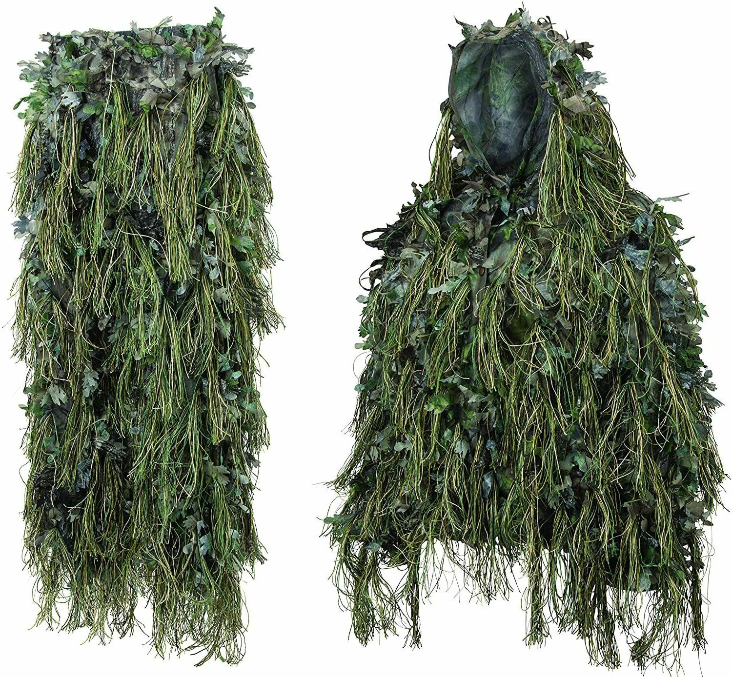 adult hybrid ghillie suit woodland green camo