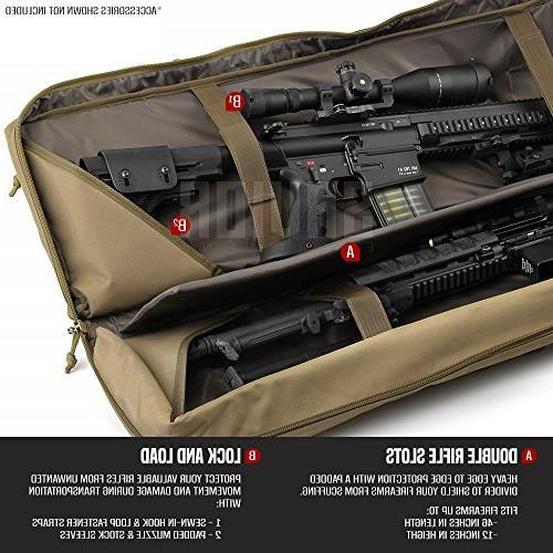 Savior Equipment Classic Tactical Long Pistol Firearm Transportation Case - 46 Earth