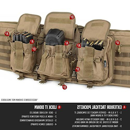 Savior Equipment American Tactical Long Rifle Pistol Gun Firearm Transportation 46 Inch Flat Earth Tan