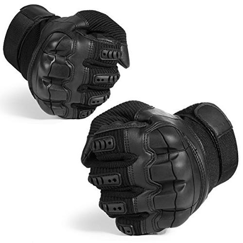 JIUSY Army Tactical Touch Rubber Knuckle Full for Motorcycle Motorbike Hunting Airsoft