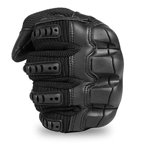 JIUSY Military Tactical Touch Knuckle Full for Hunting Paintball Riding Size Black