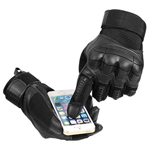 JIUSY Army Military Tactical Touch Screen Rubber Knuckle for Combat Motorcycle Motorbike Hunting Riding Size