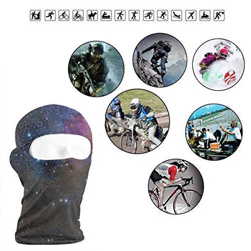 Balaclava Galaxy Universe Sky Face Ski Mask Neck Cycling Youth