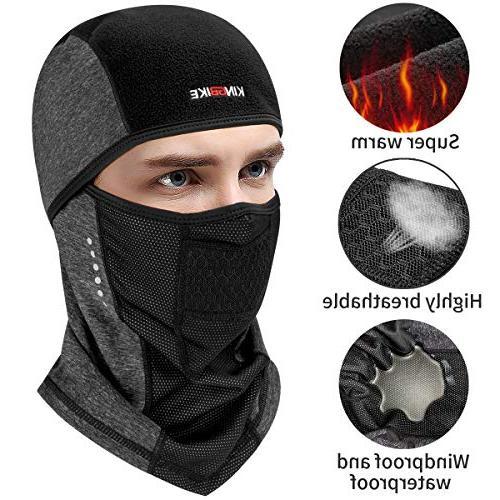 KINGBIKE Balaclava Face Mask Winter Neck Hood Fleece for Men Hat Outdoors Helmet Liner