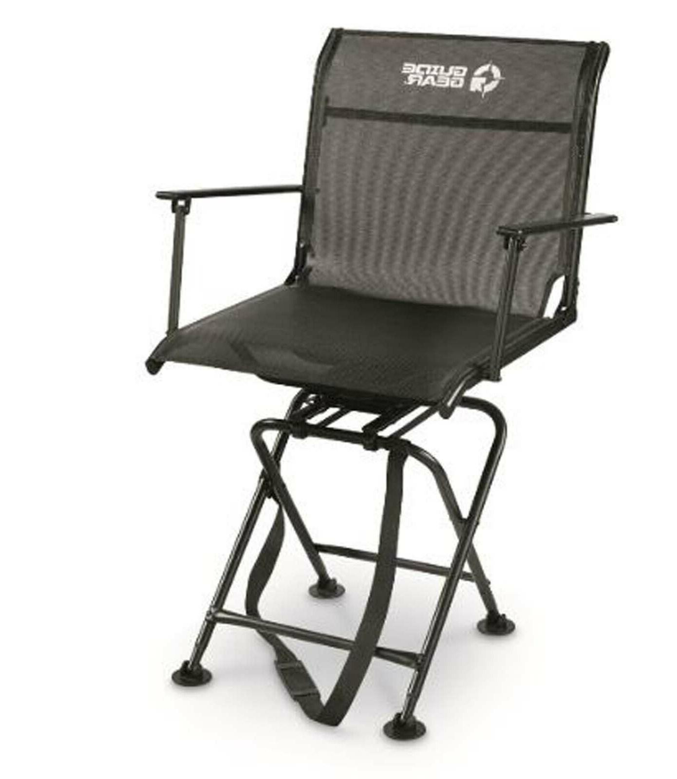 Guide Gear Big Boy Comfort Swivel Hunting Blind Chair Armres