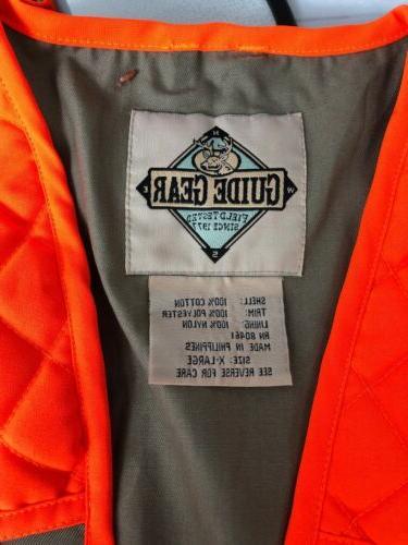 Guide Vest XL Orange Dove NEW