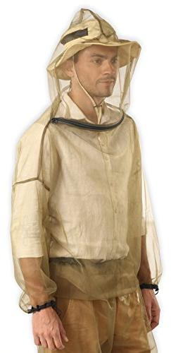 Bug Jacket with Hood & Free Carry Pouch - Anti Mosquito Net