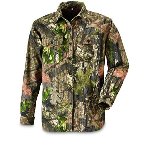 button front hunting shirt