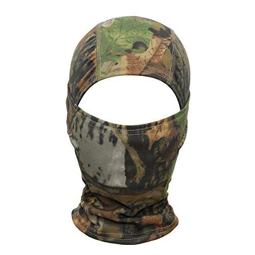 JIUSY Camouflage Balaclava Hood Ninja Outdoor Motorcycle Motorbike Hunting Military Gear UV