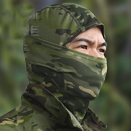JIUSY Camouflage Ninja Outdoor Motorbike Hunting Military Airsoft Gear Wind Dust Sun UV Face SP-03