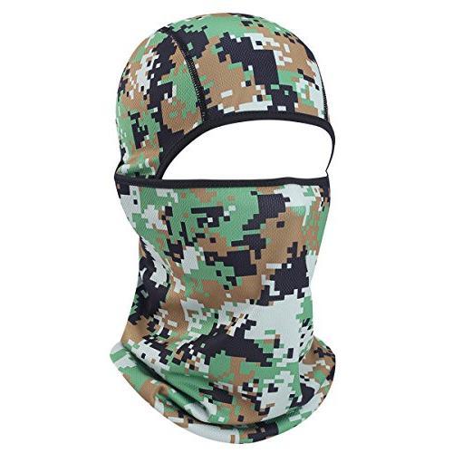 camouflage breathable seamless balaclava helmet liner face