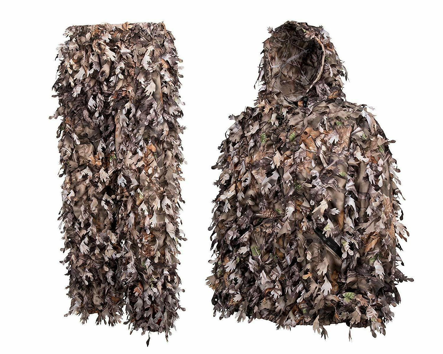 camouflage ghillie suit youth 3d hunting leafy