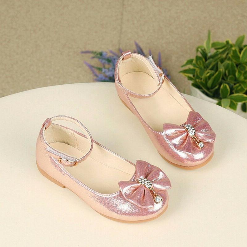 Children Princess Shoes Bowknot Dance Shallow Shoes