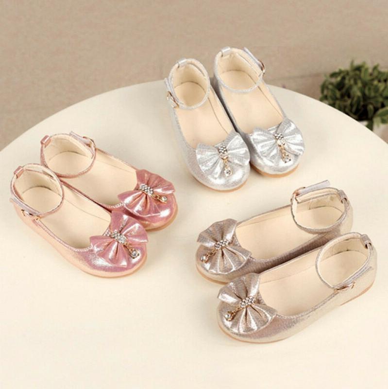 children kid baby girl princess shoes bowknot