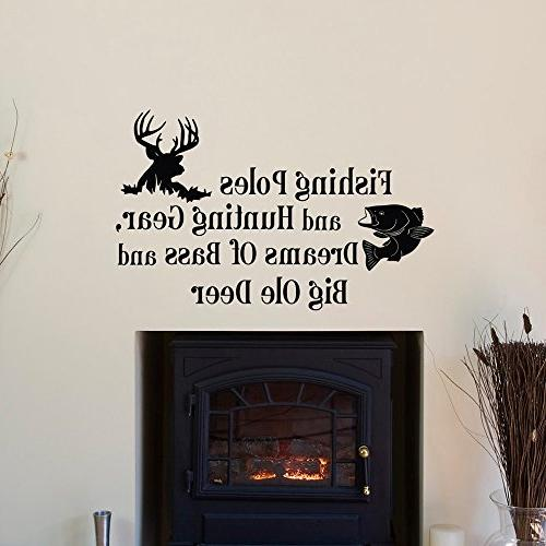 country wall decals quotes fishing