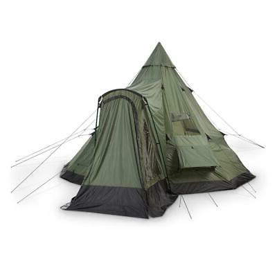 GUIDE GEAR Teepee Tent Outdoor Hunt Camp Weatherproof