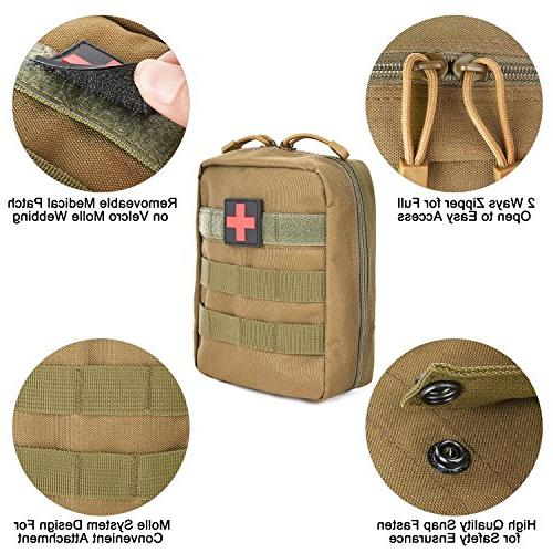 G4Free EMT Molle Medical Pouch First Bag Resistant Drain Hole