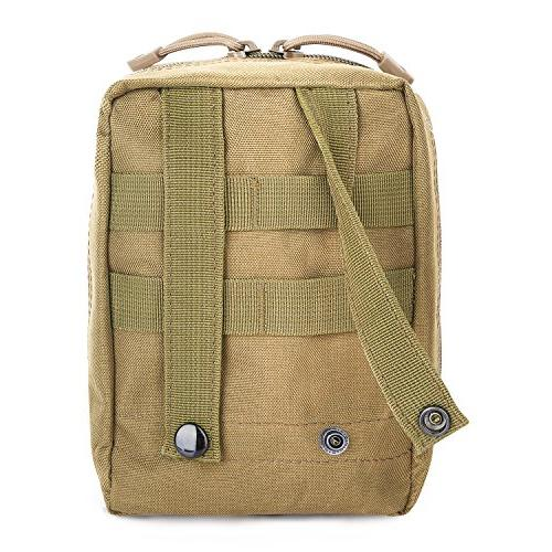 G4Free EMT Tactical Molle Medical Pouch Ifak First for Backpack Resistant with Drain