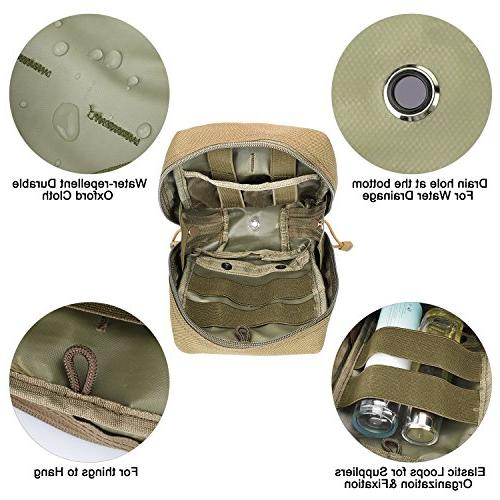 G4Free EMT Pouch Molle Ifak First Aid Bag for Backpack Vest Resistant Drain Hole