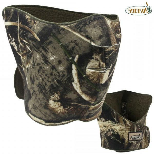 Avery Fleece Face Mask Realtree MAX 5 Camo Hat Logo Greenhea