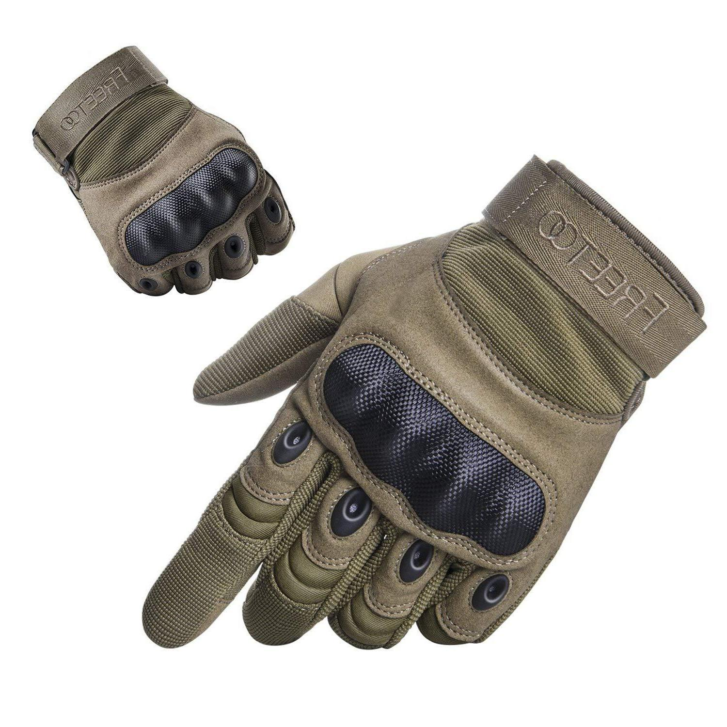 FREETOO Tactical Military Rubber Hard Knuckle Gloves