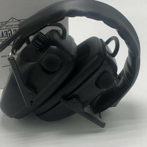 Guide Gear Stereo Electronic Ear Hearing Protection Ear Muffs Black