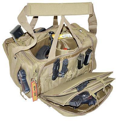 **New** Large Heavy Duty Padded Range Bag Pistol Hand Gun Hu