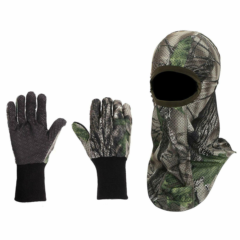hunting camouflage gloves face mask set turkey