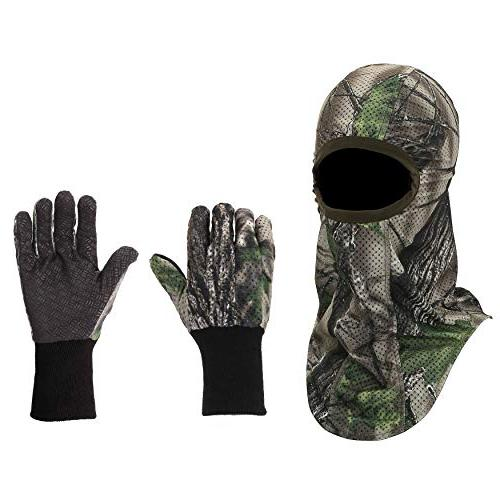 hunting camouflage gloves face mask