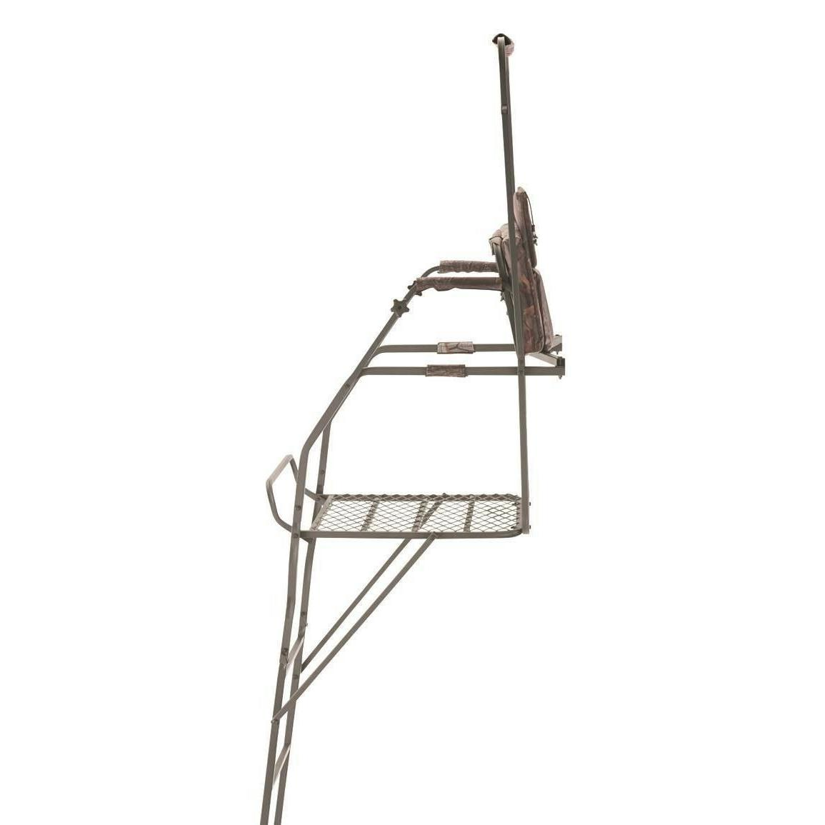 Hunting 18' Ladder Stand Flip-up Shooting Rail