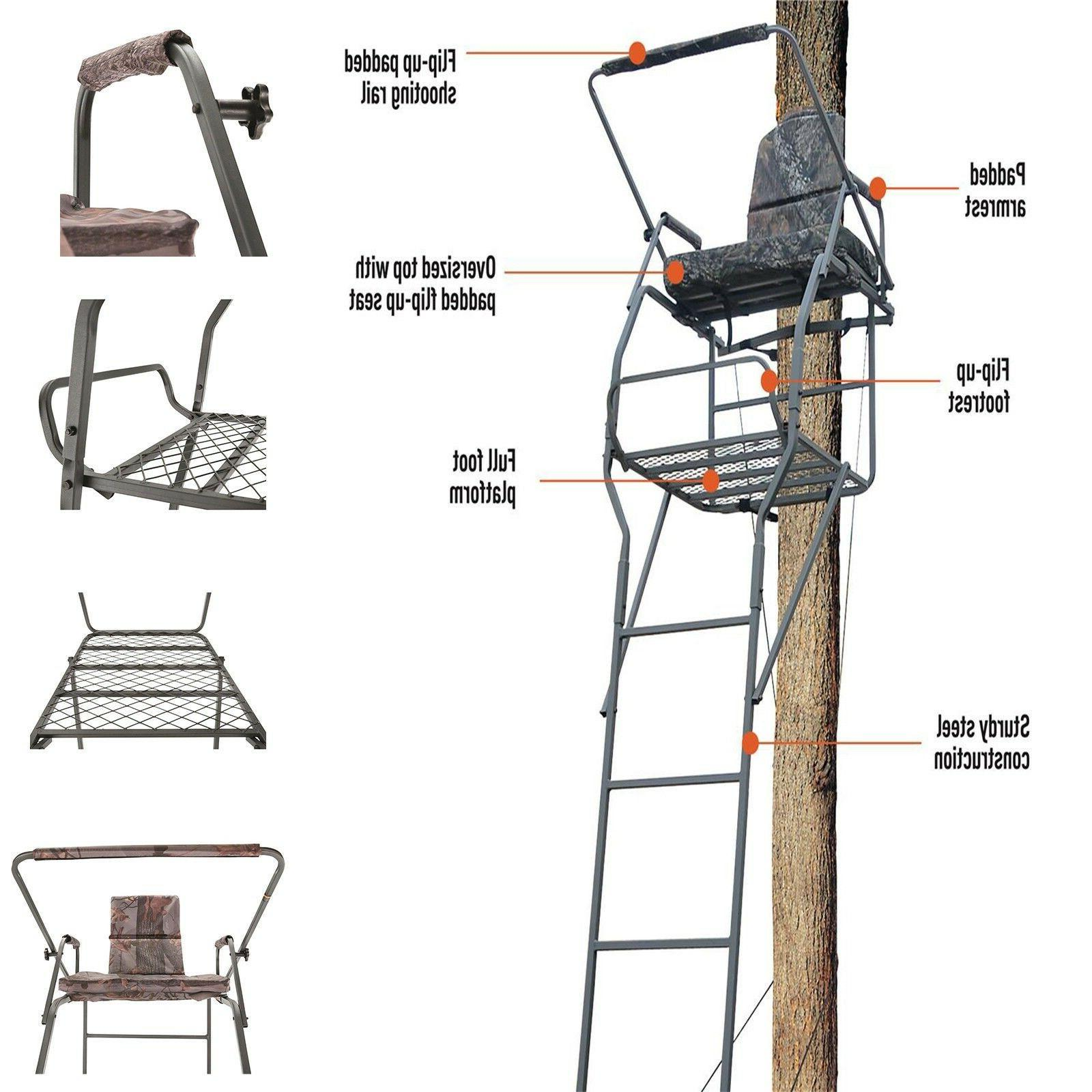 Hunting Deer Guide 18' Tree Flip-up Rail Armrest