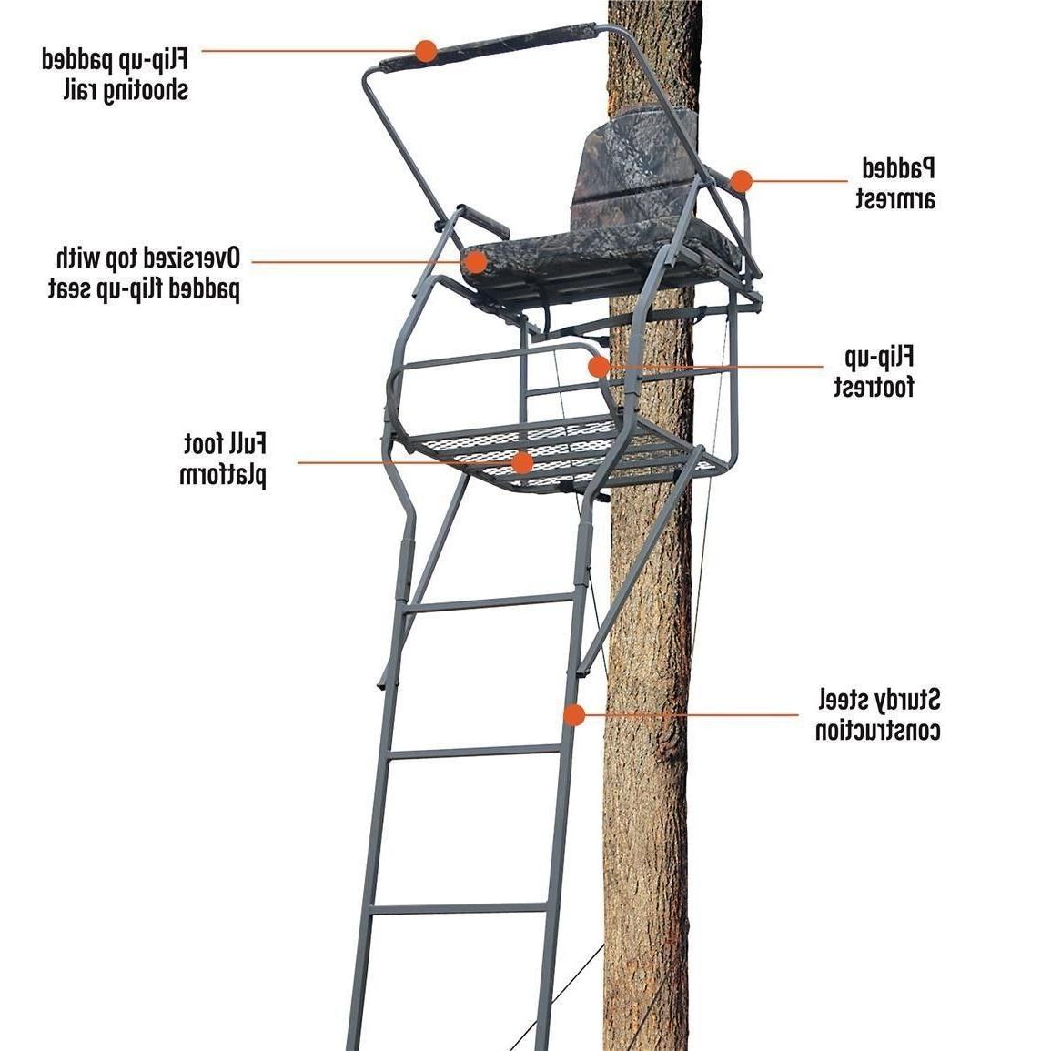 hunting deer 18 ladder tree stand flip