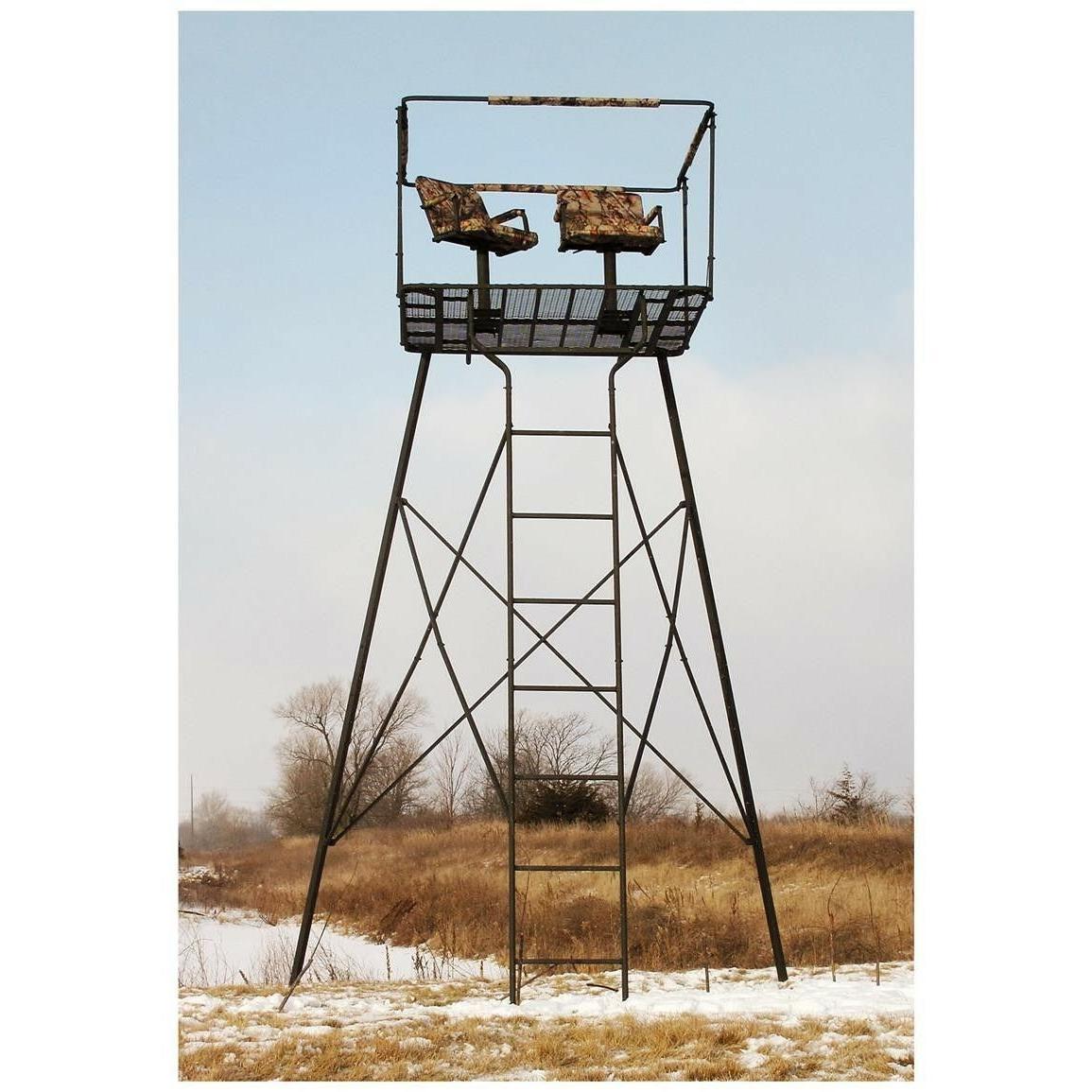 hunting deer elk 2 man steel tower