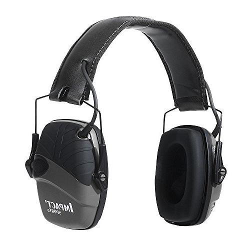 impact sound amplification electronic earmuff