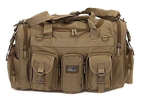 NPUSA Mens Large Inch Tan Shoulder Strap Travel Bag