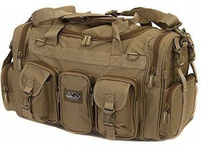 inch tan duffel duffle military
